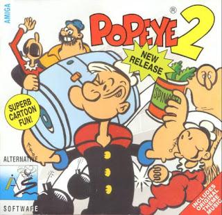 Arte gráfico de Popeye 2 para Commodore Amiga (1992)