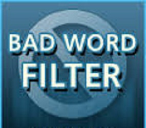 Cara memasang filter kata-kata kotor