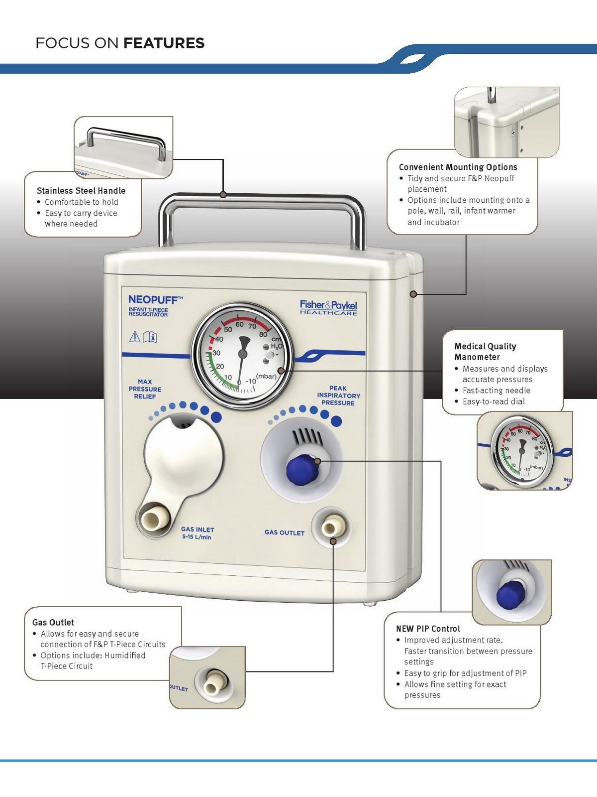 Hd Med F Amp P Neopuff Infant T Piece Resuscitator