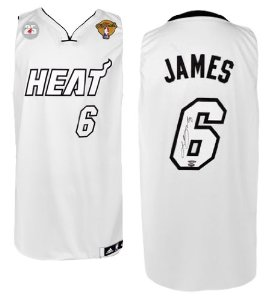 1f322376c Autographed Lebron James 2013 NBA Finals Jersey - White Hot - Upper Deck  Certified - Autographed NBA Jerseys