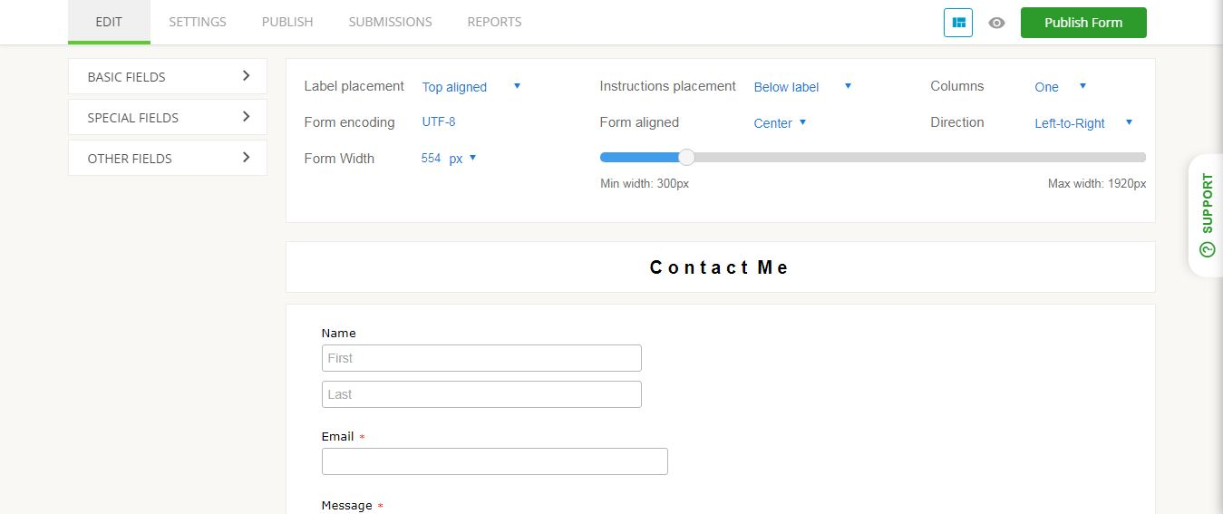 Embedding 123 Form Builder Output as Contact Page on Blogger/Blogspot