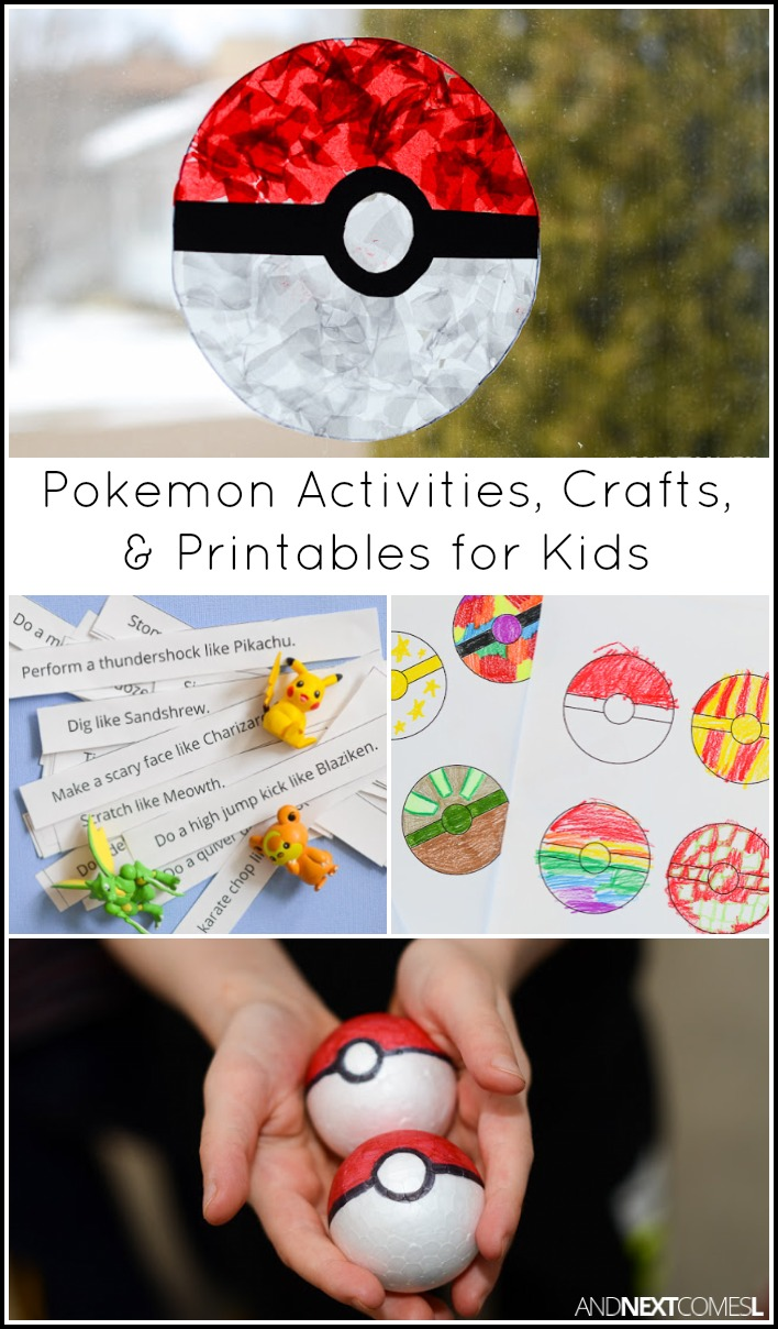 Pokemon Activities Crafts for Kids And Next Comes L