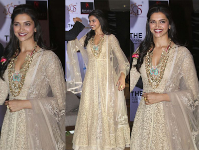 Dress No. 1 - Deepika Padukone white chiffon dress