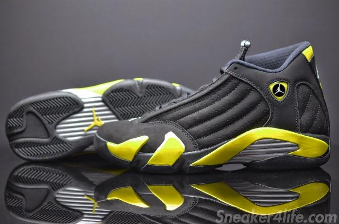 c27397aa0480 Air Jordan 14 Retro Black Vibrant Yellow-White 487471-070 July 4