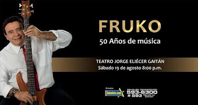 CONCIERTO DE FRUKO 50 AÑOS EN EL JORGE ELIECER GAITAN