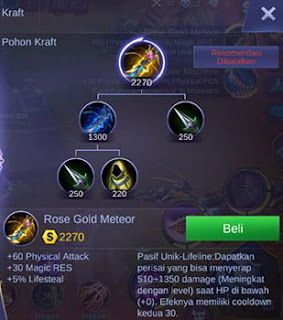 Item kelima build Martis Mobile Legend burst damage