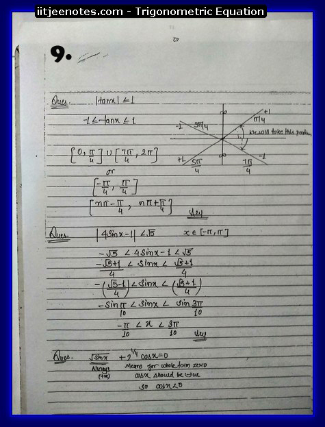 Trigonometric Equation Notes9