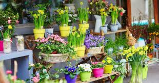 small business flower stall