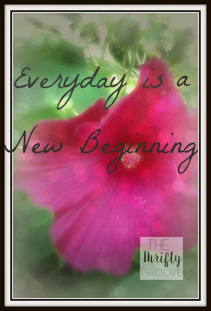 Enjoy each day because everyday is a new beginning and fresh start.