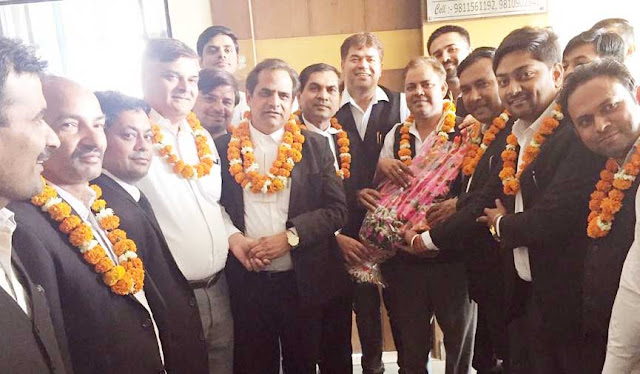 Congress Legislative Salal welcomes Rawat, the newly appointed head of the District Bar Association