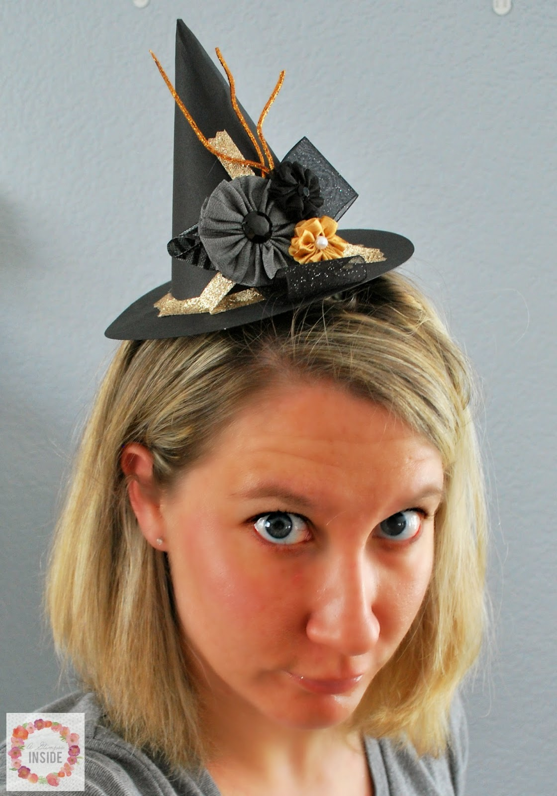 Now you have your own little Fascinator to sport this Halloween season! b49c394adbe
