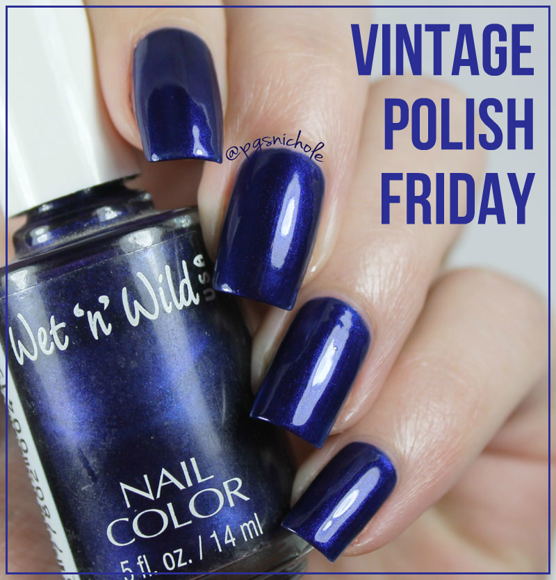 Bedlam Beauty: Vintage Polish: Wet \'n\' Wild Navy Blue 415