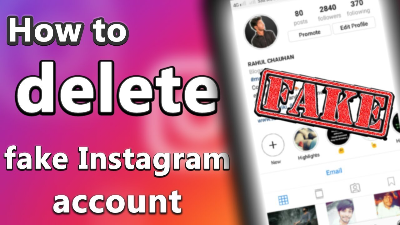How to delete someone fake Instagram account 100% working