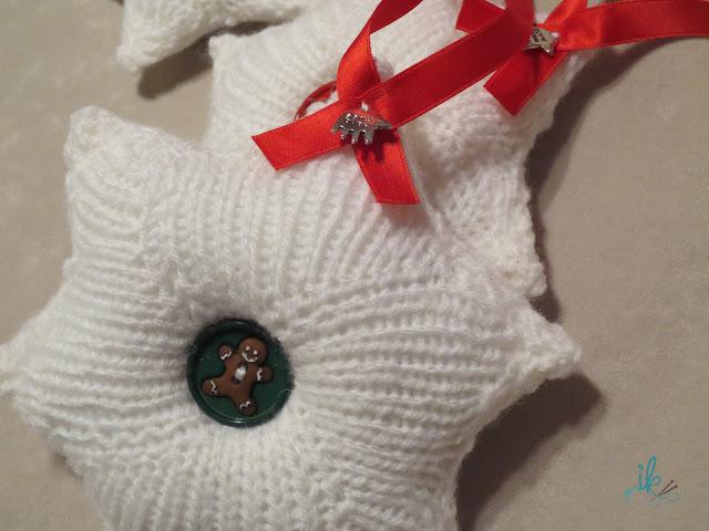 Weihnachtssterne stricken mit Handmade Hand