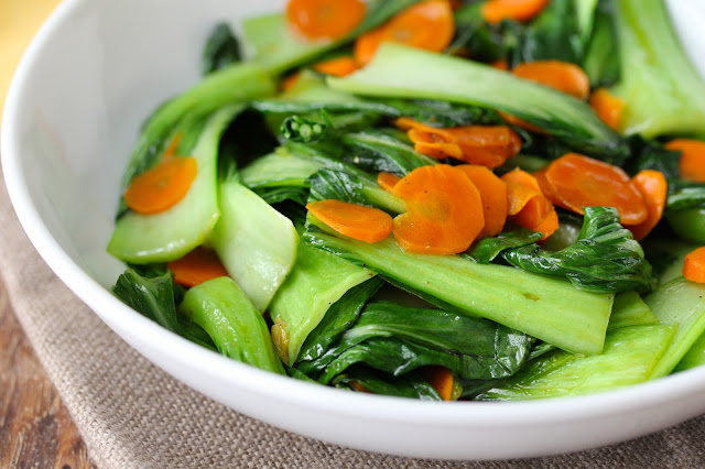 stir-fried baby bok choy with Sichuan pepper and salt