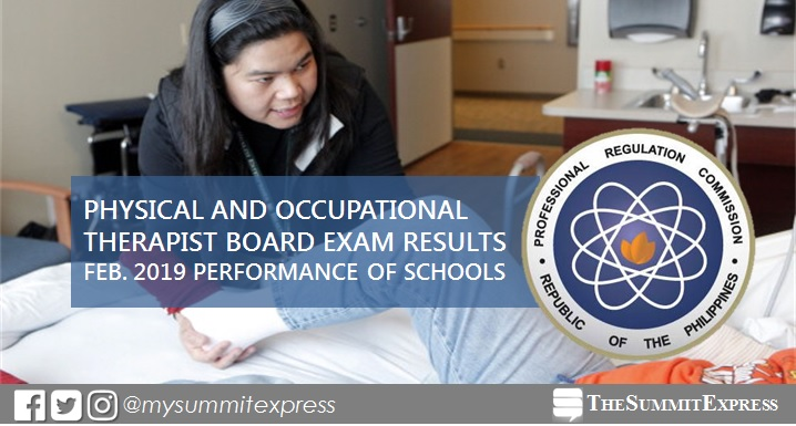 February 2019 Physical, Occupational Therapist PT-OT board exam performance of schools