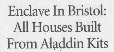 Bristol Brass Company Aladdin houses Bristol CT