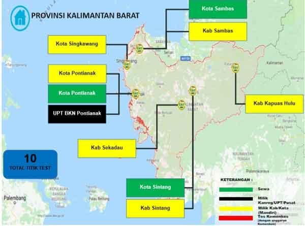 Lokasi Tes Cat BKN Propinsi Kalimantan Barat