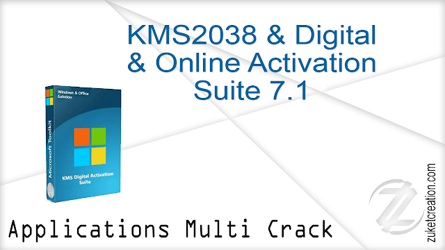 KMS2038 & Digital & Online Activation Suite 7.1    |   1.36 MB