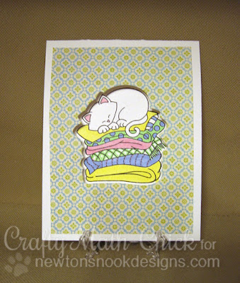 Front of Newton kitty window card by Crafty Math Chick | Newton's Naptime by Newton's Nook Designs
