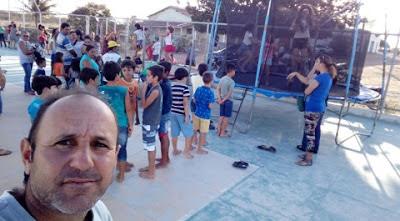 Vereador fez a festa da criançada na zona rural de Nova Palmeira nesse domingo (15)