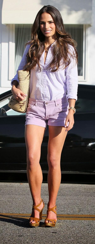 Jordana brewster sexy crossed legs in high heels