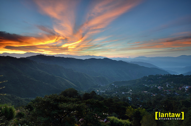 baguio: a fiery mines view sunrise
