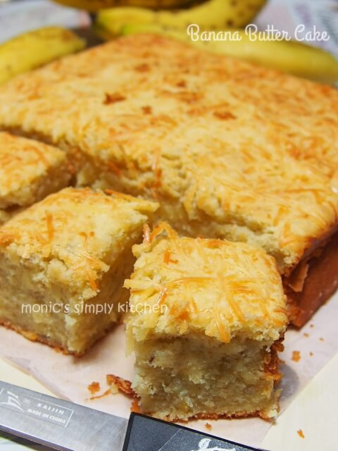 resep butter cake pisang