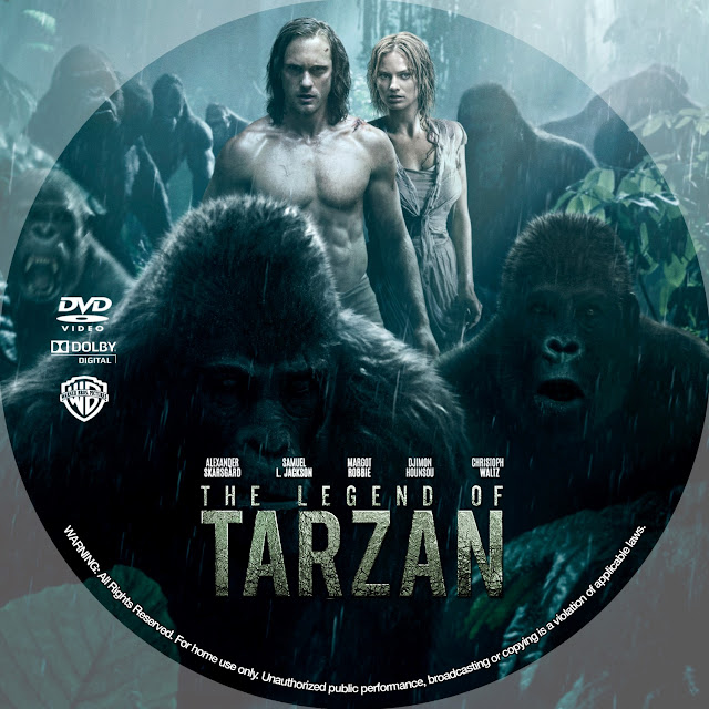 The Legend Of Tarzan DVD Label