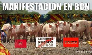 llibertat presos polítics  manifestació Barcelona