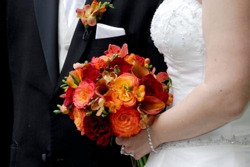 Wedding Dresses: Burnt Orange Wedding Flowers