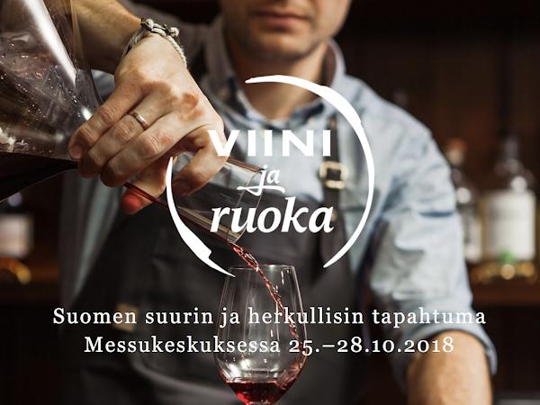Viini ja Ruoka lippuarvonta sekä Vuoden Viini ehdokkaat