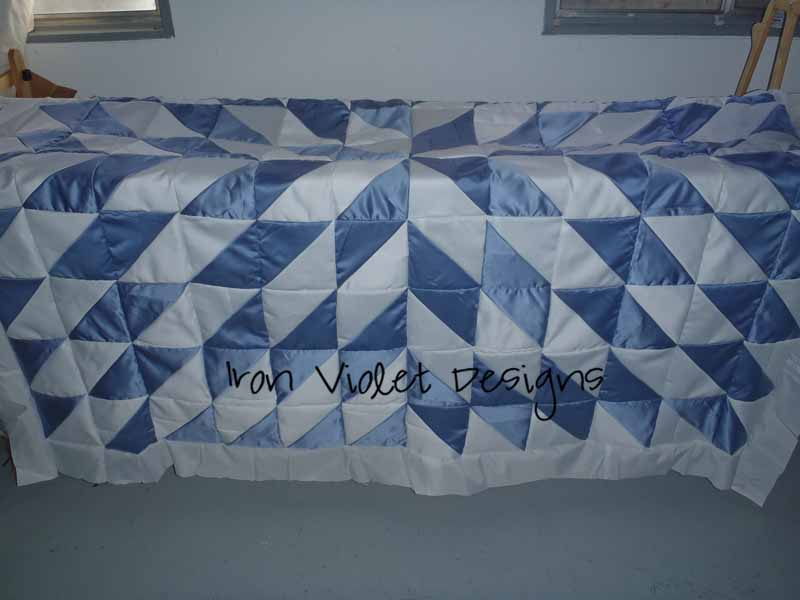 Iron Violet Designs Wedding Dress Quilt