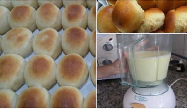 Receta práctica para hacer pan casero utilizando la licuadora.