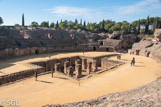 Ruinas de Italica en Santiponce. Sevilla