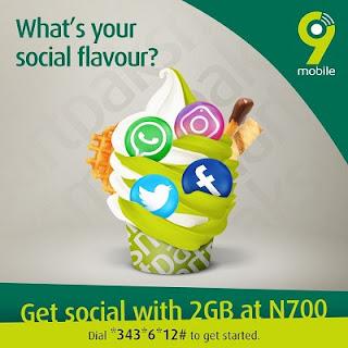 9mobile's SocialPak Offer: Get 2GB for N700