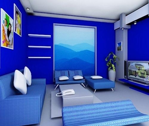 440 Koleksi Contoh Gambar Rumah Warna Biru Terbaru