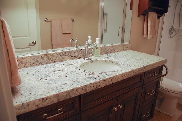 The Granite Gurus Bianco Romano Wet Bar Amp Vanities From
