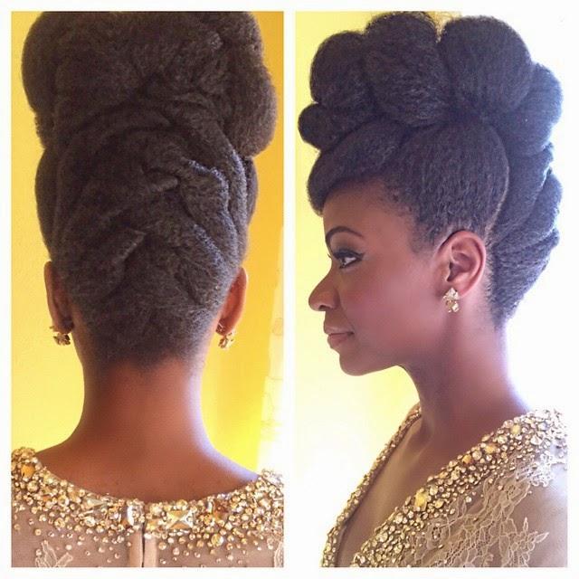 Natural Wedding Hairstyles For Long Hair: Teyonah Parris' Fierce Natural Hair Updo At The NAACP
