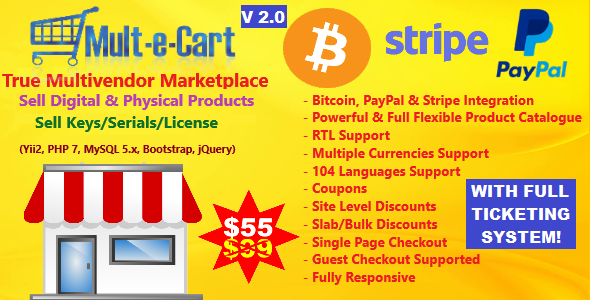 Multecart v2.0 - eCommerce marketplace shopping Cart solution CMS