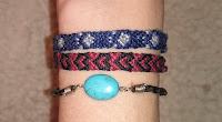 DIY Friendship bracelet paw pattern