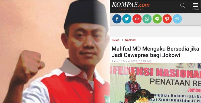 "NU Tolak Mahfud MD Cawapres Jokowi, ""Jangan Ngaku-ngaku NU, Kontribusi Nol Besar"" Padahal Mahfud Sudah Siap"