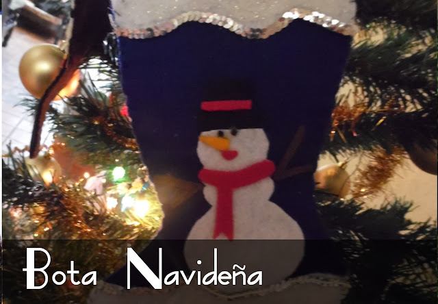 Cómo hacer una bota navideña de fieltro