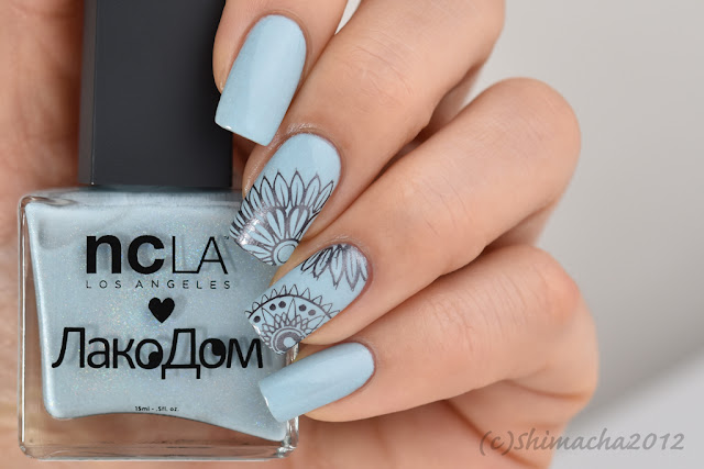 ncLA: Cloudy Sky / Moyou London: Fashionista Collection-11, スタンピングネイル