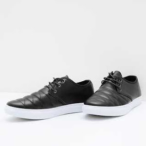Men Quilt Sneakers Black