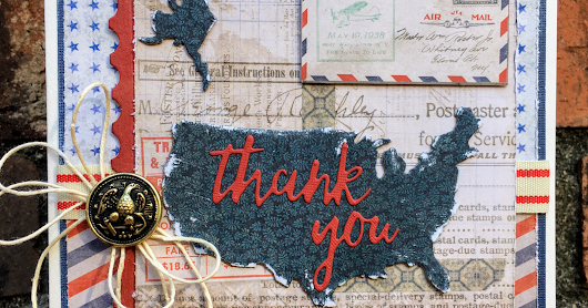 Tim Holtz Thank You Veteran's Day Card
