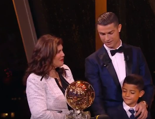 Sport: Ronaldo wins 2017 Ballon d'Or, equals Messi's record