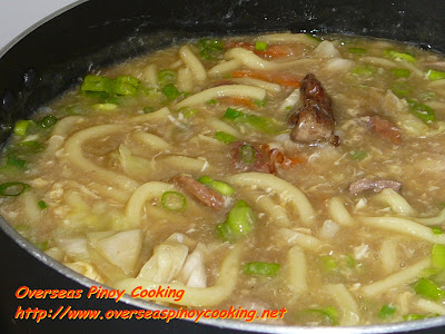 Hokkien Noodles Lomi Style - Cooking Procedure