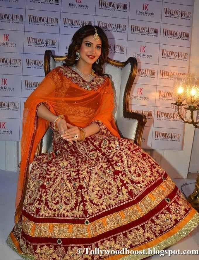 Hindi Model Urvashi Rautela Images In Beautiful Orange Dress