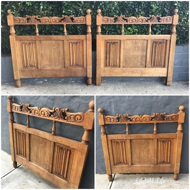vintage oak single bed Lilyfield Life